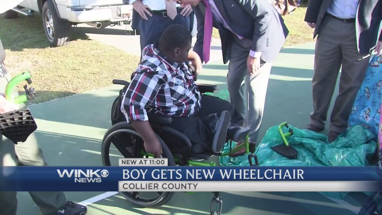 Collier County student gets new wheelchair