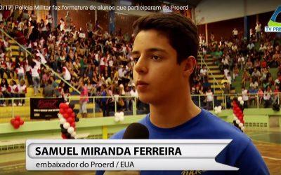 YAB Member Samuel Miranda Ferreira at D.A.R.E. Graduation in Brazil