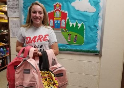 """D.A.R.E. YAB Member Maddie Matthys at """"Badges and Backpacks"""""""