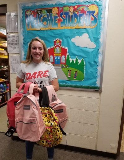 "D.A.R.E. YAB Member Maddie Matthys at ""Badges and Backpacks"""