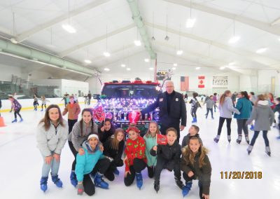 Strongsville, Ohio Police Department D.A.R.E. Ice Skating Party, November 20, 2018, with Officer Don Poney