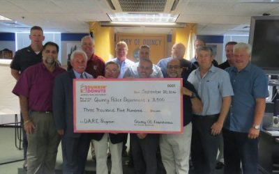 Quincy Dunkin' Donuts Donates $3.5K to D.A.R.E. Program