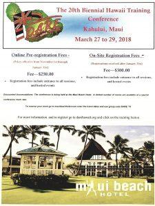 Hawaii Biennial State Training Conference @ Maui Beach Hotel