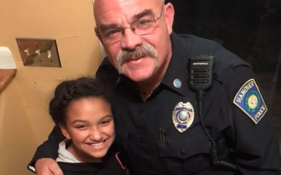 D.A.R.E. Officer Checks on Student After Illness Kept Her Home From School