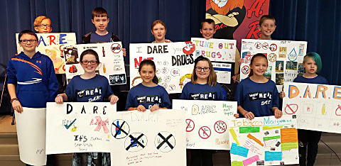 Lisbon Fifth Graders Complete D.A.R.E. Program