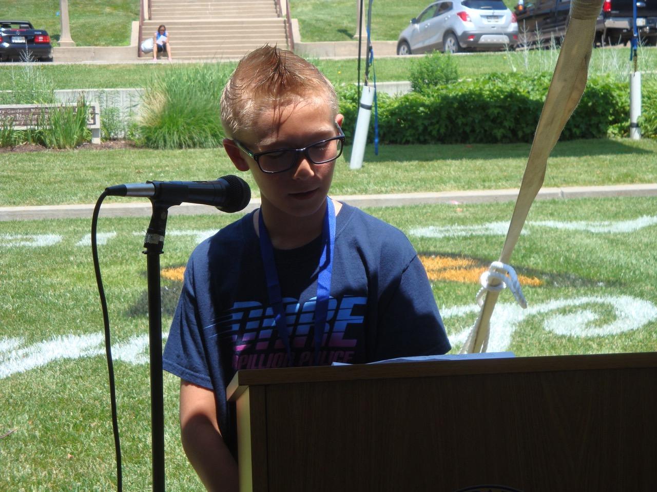 Will Alexander, 2016 D.A.R.E. Pledge Winner, Papillion, Nebraska