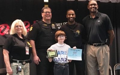 D.A.R.E. Essay Winners at Lonnie B. Nelson Elementary in Columbia, SC