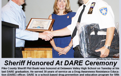 Pike County Sheriff Phil Bueki Honored at his Last D.A.R.E. Graduation