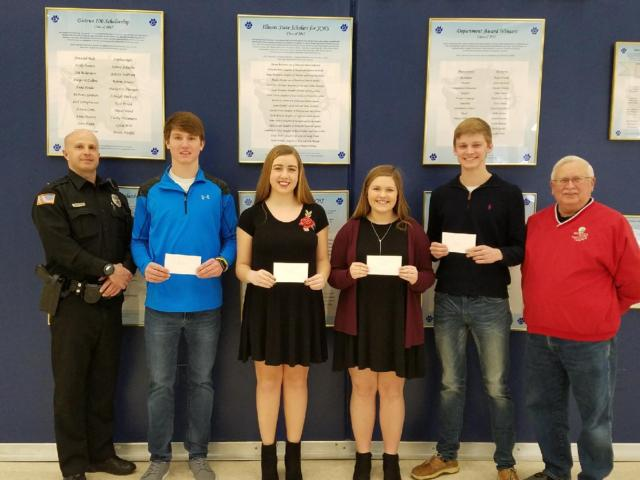 Jersey D.A.R.E. program honors four students with scholarships