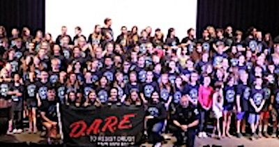 TAMS students take D.A.R.E. pledge