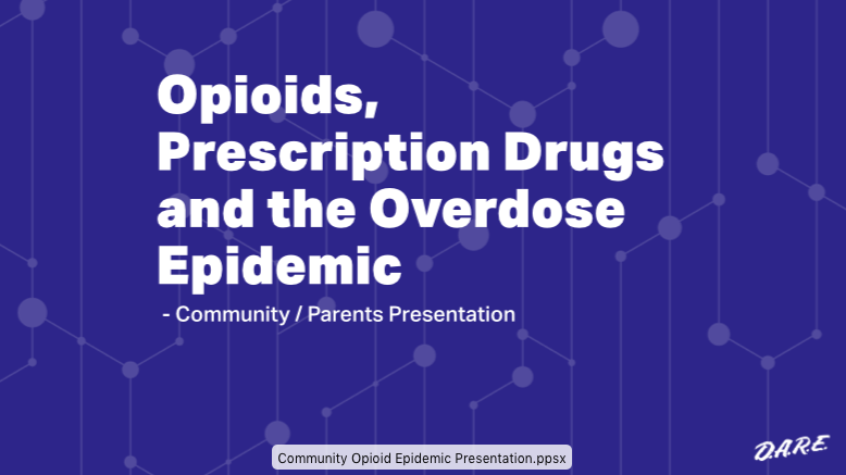 Community Opioid Epidemic Presentation