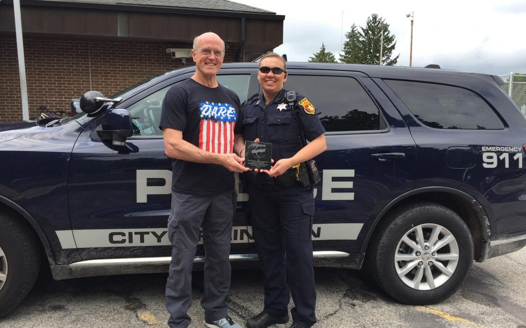 D.A.R.E. Officer Scott Brown Recognized for 20 Years in the Classroom