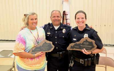 D.A.R.E. Officer and Educator of the Year Awards presented at Owensboro Middle School