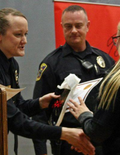 Chelsea Korzinski Accepts Her D.A.R.E. Certificate