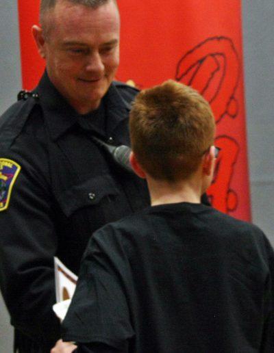 International Falls Police Chief Rich Mastin Congratulates Tyler Hedlund