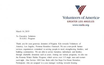 March 2019 KARE Donation to Volunteers of America