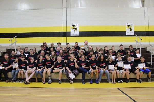 Fifth-Graders at Camp Ground Elementary Graduate from D.A.R.E. Program