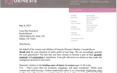 KARE Donation to Genesis Women's Shelter & Support
