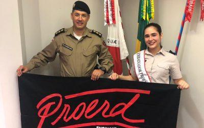 Rebecca Alves, YAB Member from Brazil, Visits Minas Gerais Military Police High Command