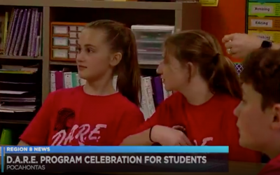 Officers Educate, Have Fun with D.A.R.E. Program at School