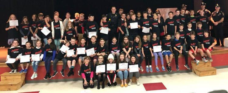 Fifth grade Bagnall Elementary School students graduated from the Groveland Police Department's D.A.R.E. program.