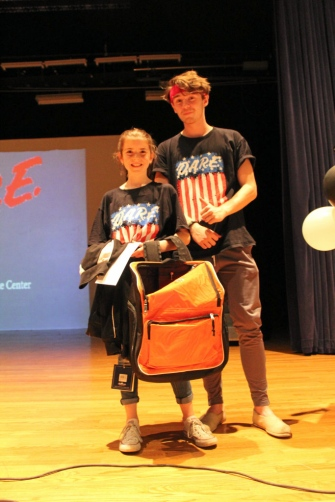 Best D.A.R.E. essay was written by Olivia Williams and it was read by one of the D.A.R.E. mentors, Isaac Clark.