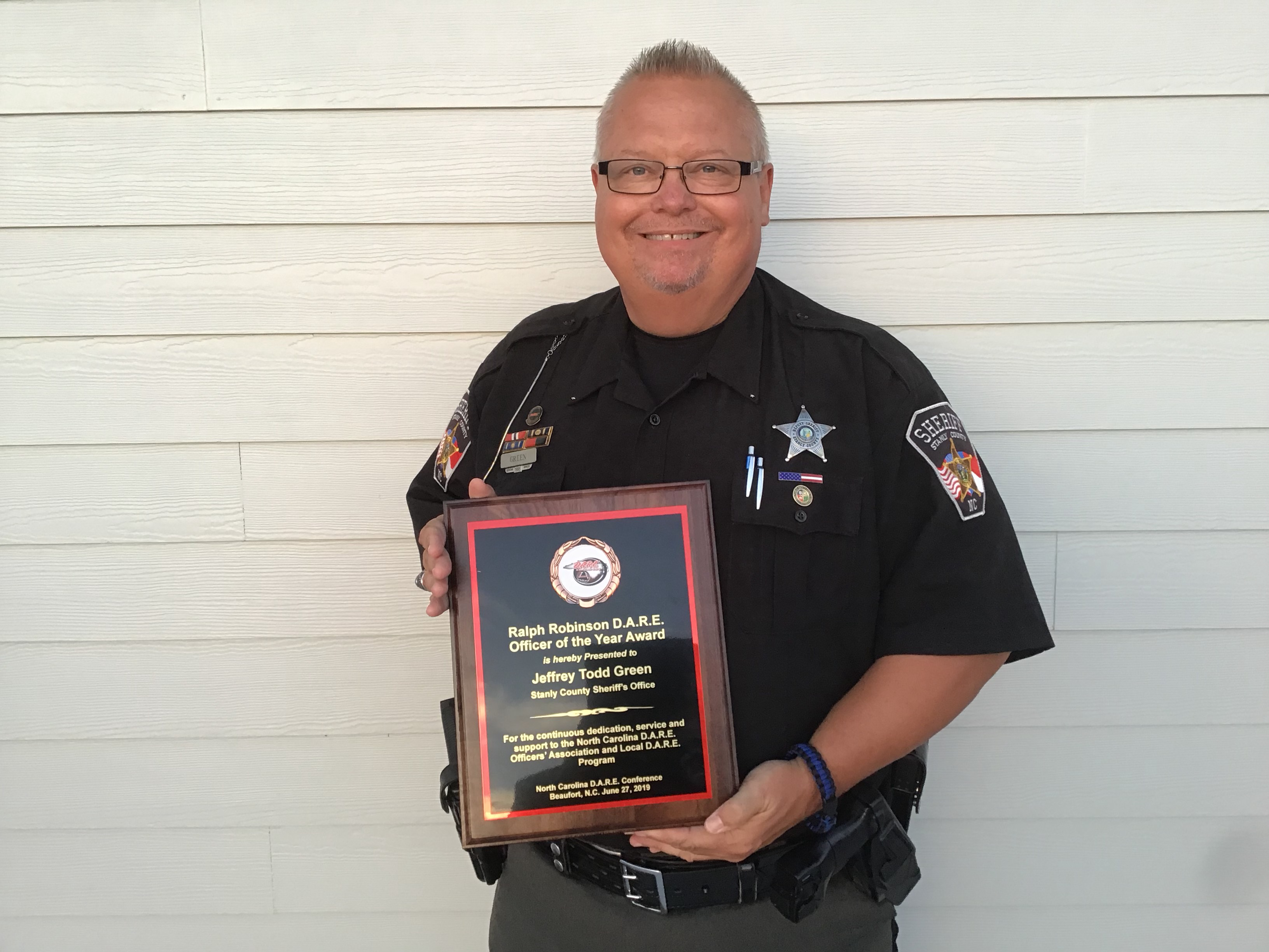 Todd Green, North Carolina D.A.R.E. Officer of the Year 2019