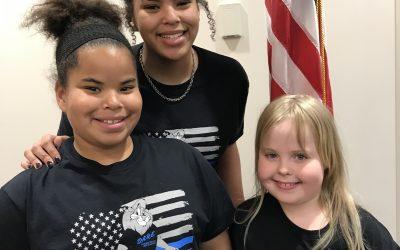 Sophia, Olivia, and Brooklynn at the 2020 Minnesota DOT