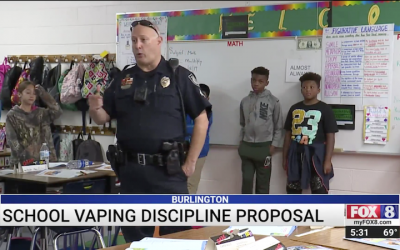Burlington Police Proposing New Form of Discipline to Address Vaping in Schools