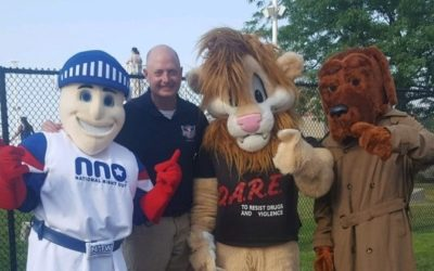 Daren the Lion at Munster's National Night Out