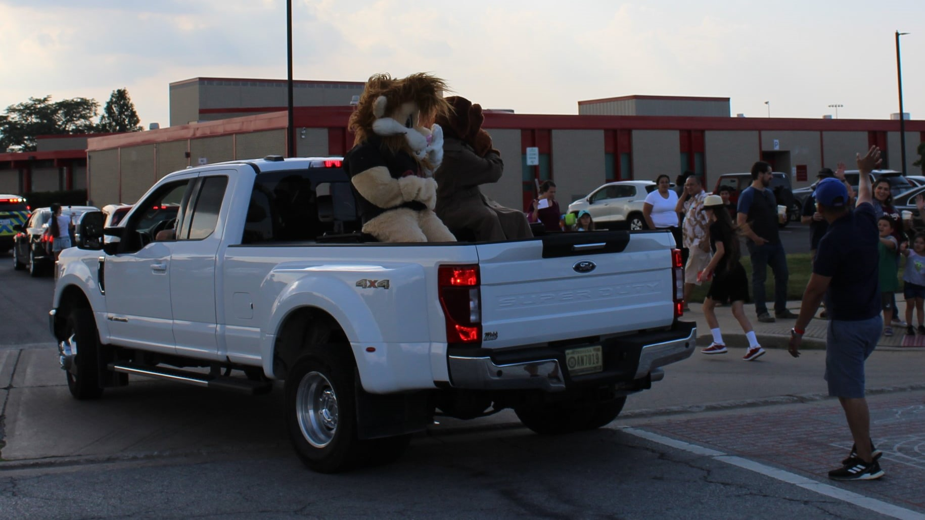 Daren in the Munster National Night Out Parade