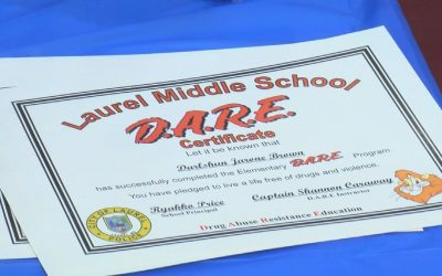 Laurel Police Dept. Holds D.A.R.E. Graduation Ceremony