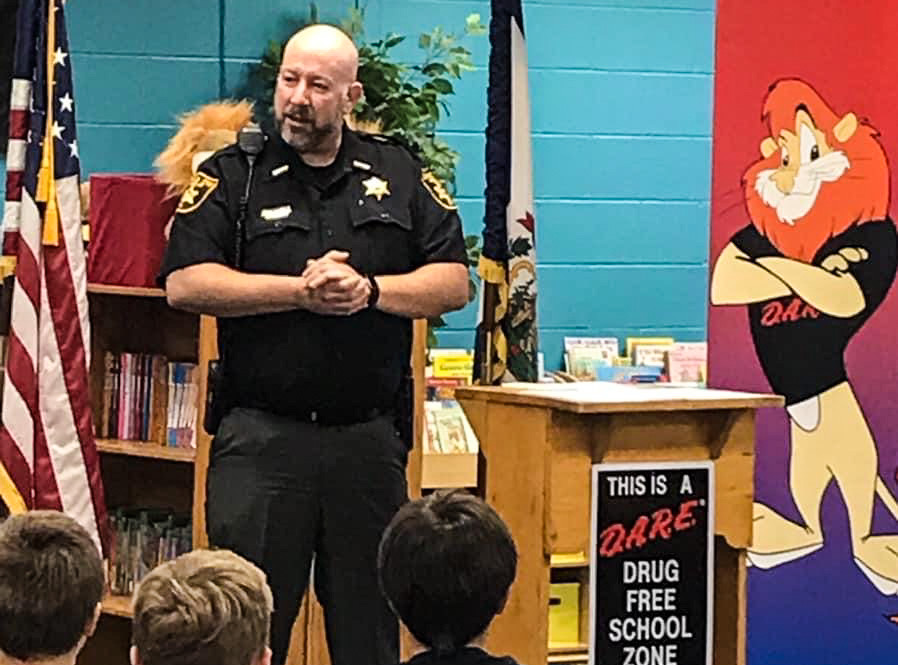 Sheriff Howard enjoys speaking with local students for many reasons, and one of them is to raise awareness about the dangers with drugs.
