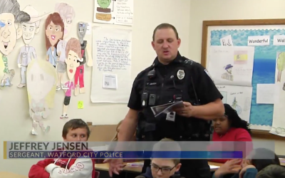 Watford City School Teaching D.A.R.E.